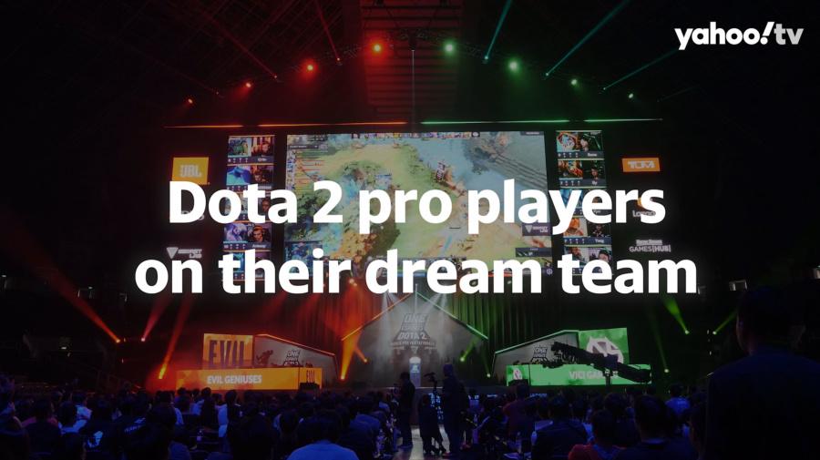 Dota 2 pro players on their dream team