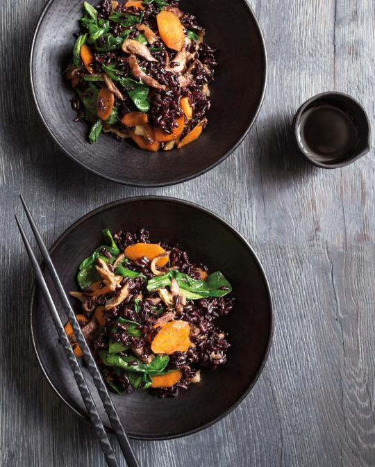 Quick Stir-Fry with Black Rice from 'The Yellow Table'