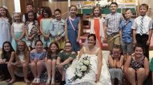 Teacher invites 80 students to her wedding because she 'couldn't picture getting married without them'
