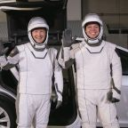 Tesla makeover for spacemen as Cape Canaveral prepares to launch astronauts
