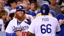 Yasiel Puig and Justin Turner re-create eclipse after Dodgers win