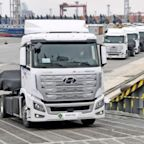Fuel Cell Trucks Enroute From Korea To Switzerland
