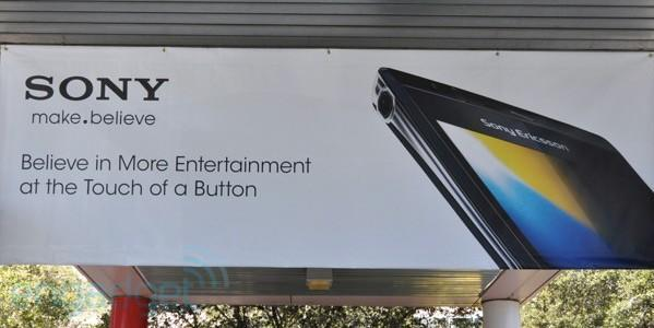 Sony poster at CES shows unannounced, extremely slim-looking phone (update: it's the Arc)