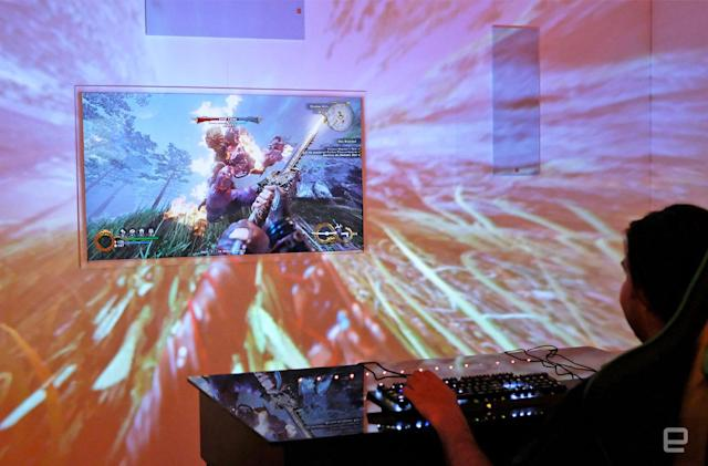 Razer's projector turns your gaming room into a hippie freakout