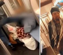 Suspect arrested after elderly woman kicked in face on train