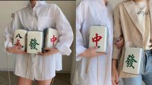 These mahjong tile bags make a pretty ingenious Chinese New Year accessory