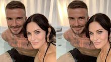 Courteney Cox Just Hit the Hot Tub with David Beckham, and Her Fans Went Wild
