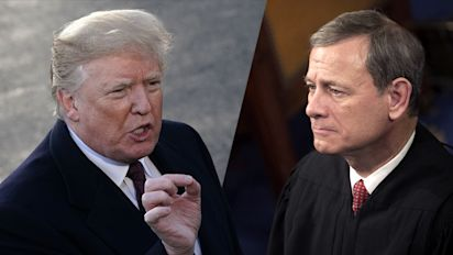 Chief justice rejects Trump criticism of federal judge