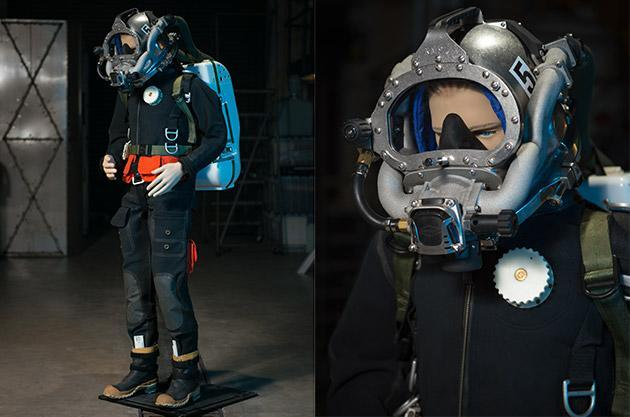 US Navy's latest diving suit saves helium, space and weight