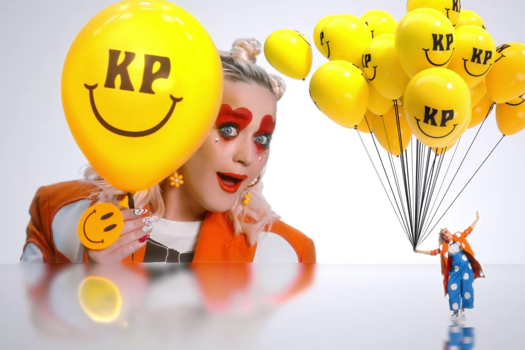 Katy Perry Clowns Around in 'Smile' Video