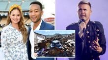 Chrissy Teigen and Gary Barlow caught up in earthquake hell