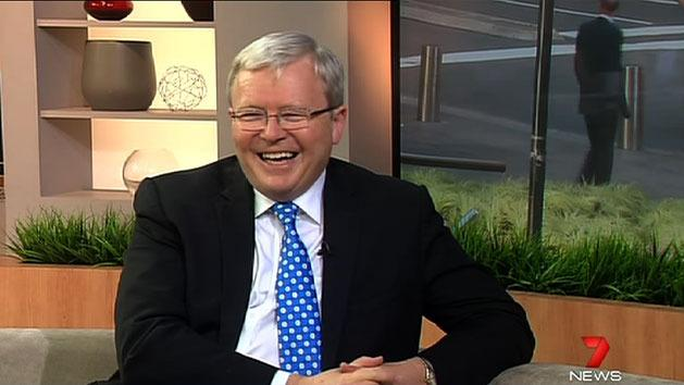 Rudd laughs off leadership suggestions