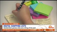 Handwritten shopping lists a thing of the past