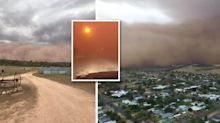 Eerie dust storms plunge NSW towns into darkness