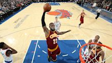 LeBron James lets his play do the talking as the Cavs destroy the Knicks