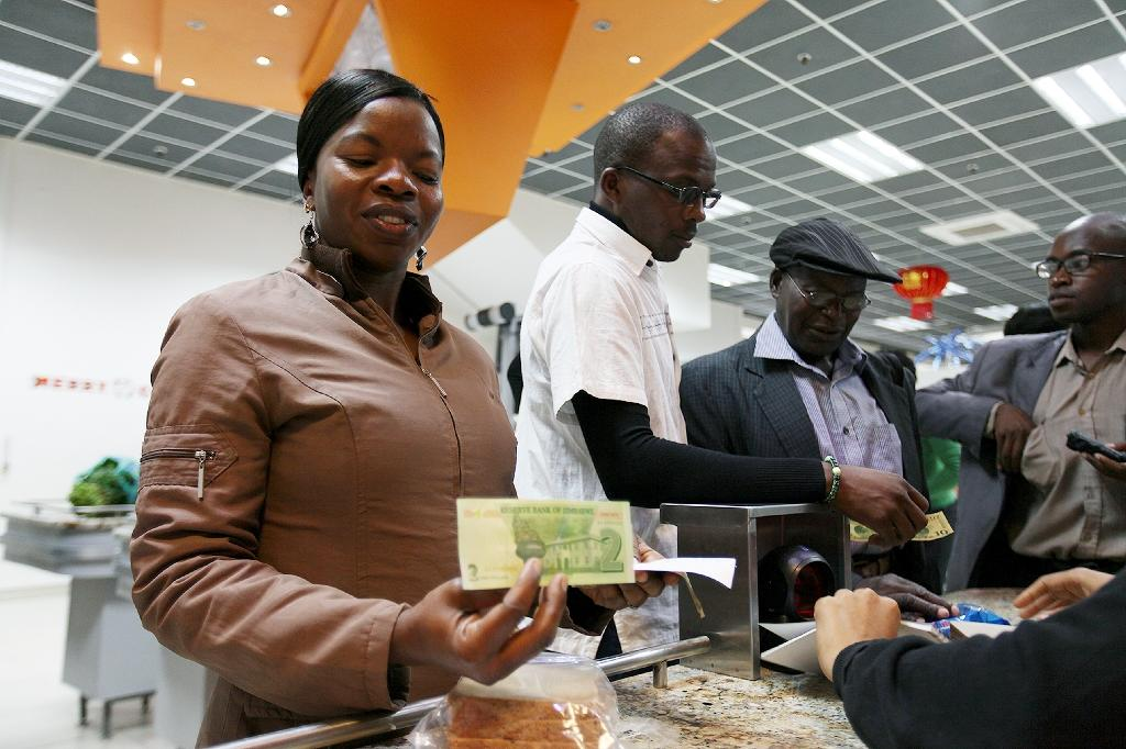 Zimbabwe abandoned its own currency in 2009 after rampant hyperinflation, which peaked at 500 billion percent, rendered the local dollar useless (AFP Photo/Wilfred Kajese)
