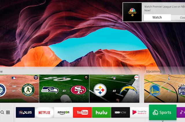 Samsung's 2017 TVs will keep track of your favorite sports teams
