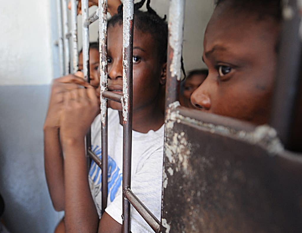 Haitian prisoners on June 28, 2010 in in Petion-ville, Haiti