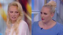 Pamela Anderson defends Julian Assange after Meghan McCain calls him 'a cyberterrorist' on 'The View'