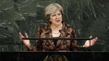 Theresa May speaks out against Trump climate change stance at UN