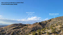 The drill is back at VR's Reveille property in Nevada to test the  jasperoid breccia-pipe gold target named G1