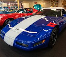 A lifelong car collector is auctioning 48 of his pristine Corvettes - see the 'Muscle Car City' collection