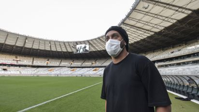 Brazilian star Ronaldinho tests positive for virus