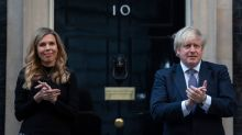 Carrie Symonds makes first post-pregnancy appearance clapping for carers outside Number 10