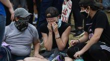 Car drives through crowd, protester shot in Colorado