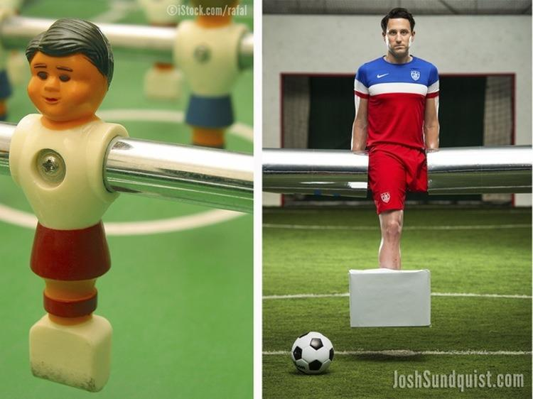 <p>For the past several years, Sundquist has posted pictures of himself in costumes only he can pull off: In 2014, he was a foosball player — 'cause, duh, those little plastic guys have only a single leg for kicking. Perfect.<br></p>