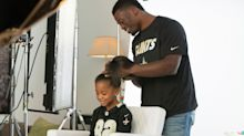 NFL Pros Do Their Daughter's Hair for Pantene Campaign