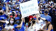 Blue Jays put on a show in first game back in Toronto