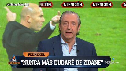 """""""Me equivoqué"""": Pedrerol pide perdón en 'El Chiringuito' por todo lo que ha dicho de Zidane"""