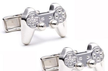 PlayStation controller cuff links impress Sony interviewers