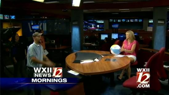 Beach balls in the WXII newsroom!