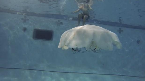 Giant robot jellyfish reporting for recon duty, sir (video)