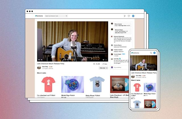 Bandcamp finally gets in on livestreaming music