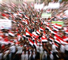 Rebel supporters flood Yemen streets on conflict anniversary
