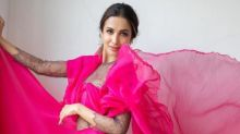 Malaika Arora is a vision in this hot pink thigh-high slit dress