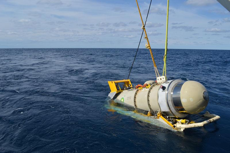 BPÕs Wolfspar seismic source device is pictured at Mad Dog oil field in the deepwater Gulf of Mexico