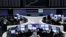 Global stocks scale record high, crude oil gains
