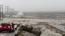 Surging Floodwater Forces Multiple Road Closures in Palm Springs