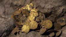 Desentierran tesoro de monedas de oro de hace 1.000 años en Israel