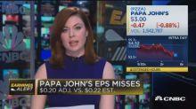 Papa John's misses earnings, revenue expectations