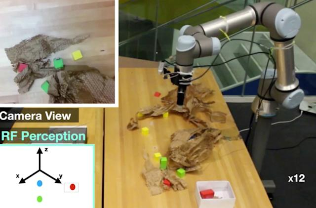 MIT researchers use radio waves to help robots find hidden objects