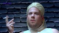James Corden as Sharon Stone in Basic Instinct spoof with Michael Douglas