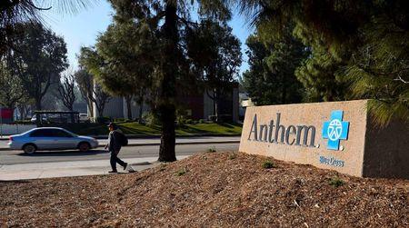 A sign at the office building of health insurer Anthem is seen in Los Angeles, California February 5, 2015. REUTERS/Gus Ruelas/File Photo
