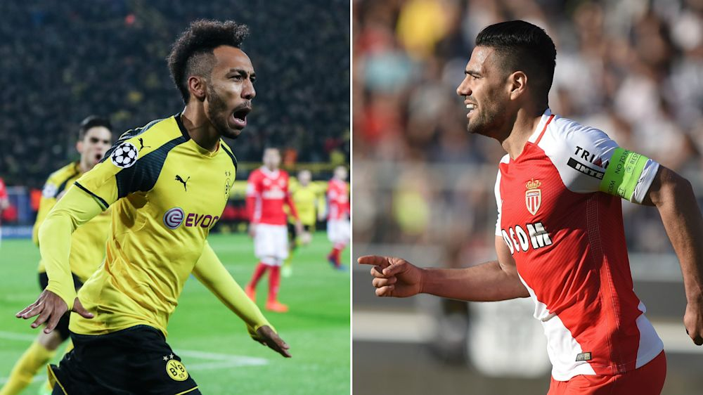 Falcao - Aubameyang: encuentro de goleadores en el Signal Iduna Park