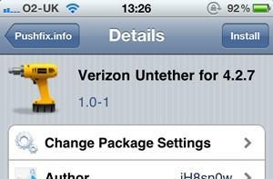 Verizon iPhone untethered jailbreak now available for iOS 4.2.7