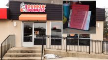Calls for boycott of Dunkin' Donuts after 'shocking' sign in store
